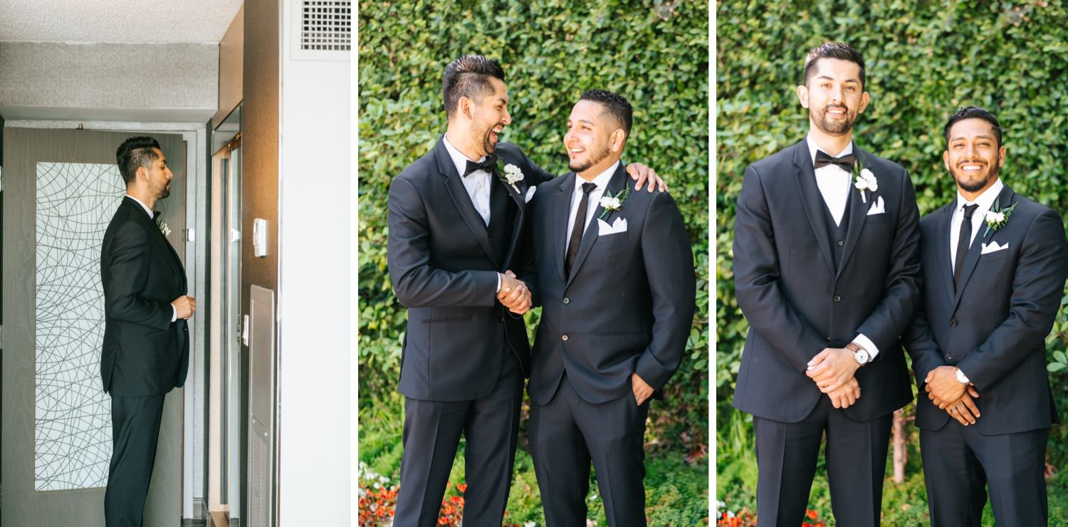 Groom and Groomsmen Photos - Los Angeles - Wedding Photographer - https://brittneyhannonphotography.com