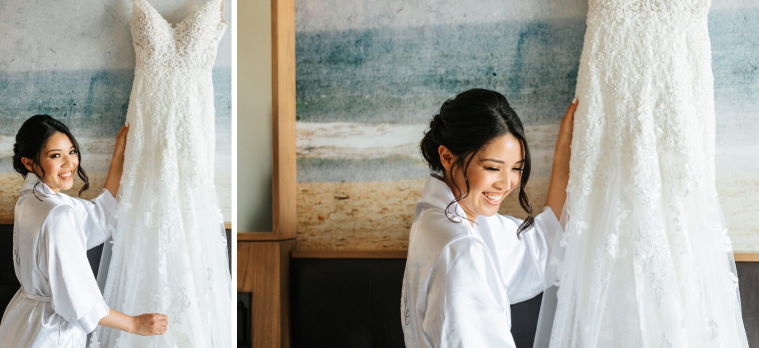 Bride and her Wedding Dress - Los Angeles Wedding Photography - https://brittneyhannonphotography.com