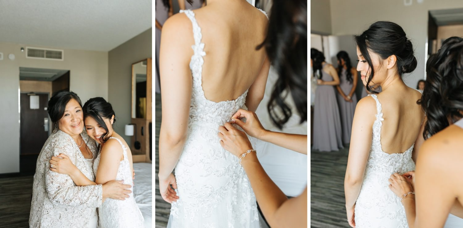 Sweet moments with Bride and her mom - https://brittneyhannonphotography.com