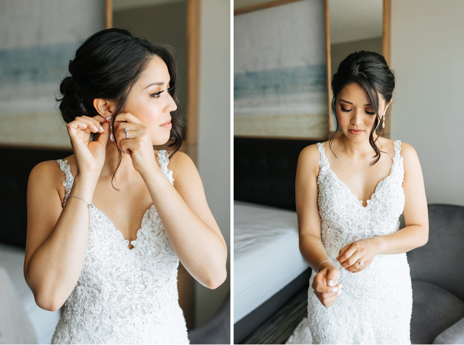 Bride putting on jewelry - https://brittneyhannonphotography.com