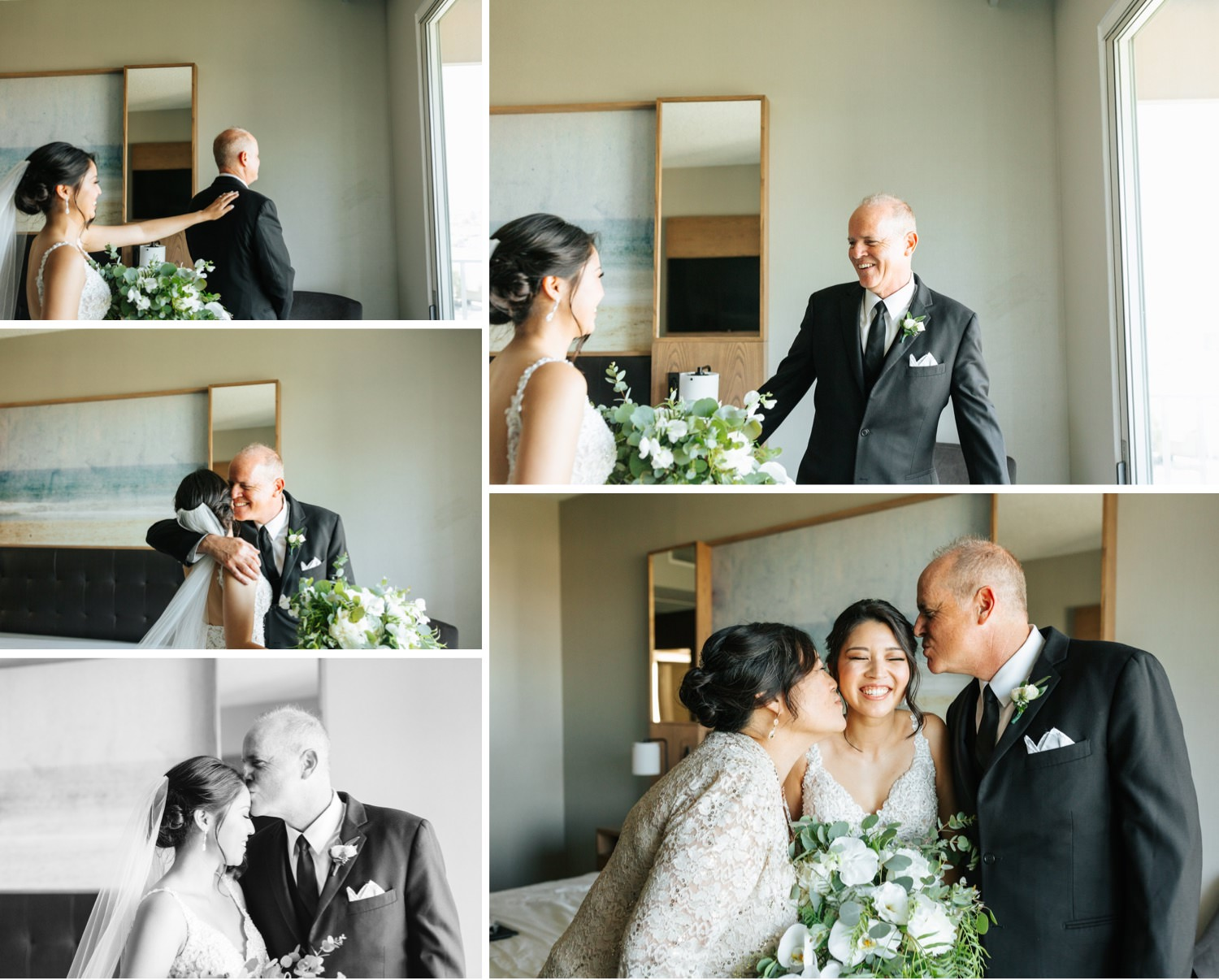 Brides first look with her dad - First Look - https://brittneyhannonphotography.com