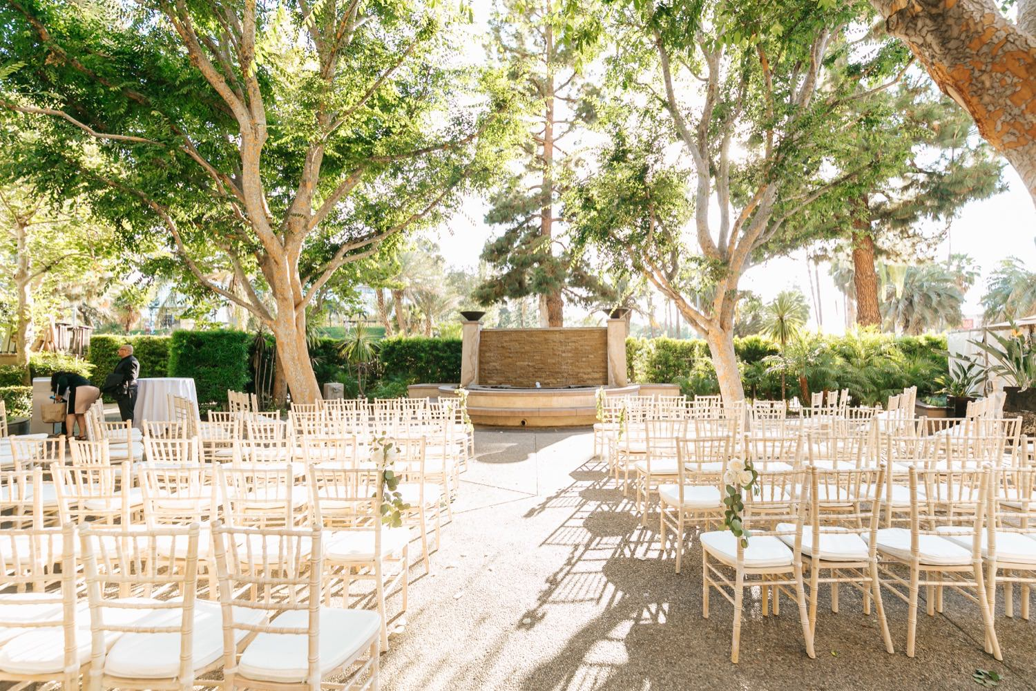Los Angeles Wedding Ceremony Decor - Wedding Decor Inspiration - https://brittneyhannonphotography.com