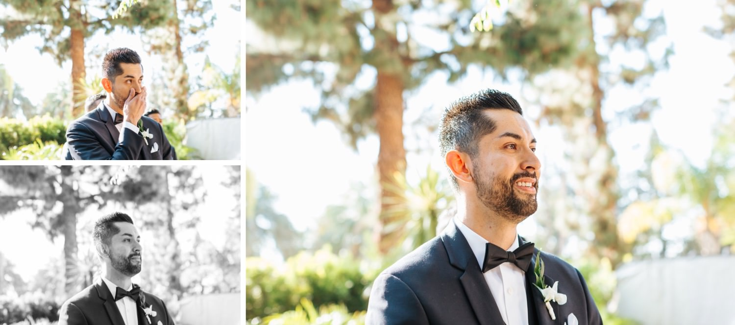 Groom sees bride for the first time - https://brittneyhannonphotography.com
