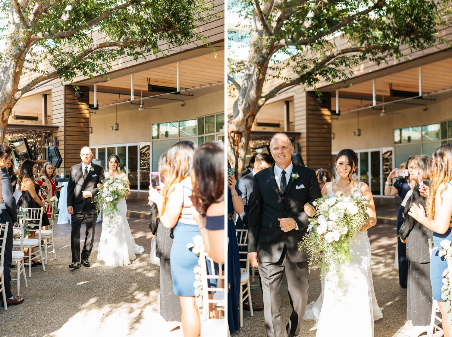 Bride walking down the aisle - LA Wedding - https://brittneyhannonphotography.com