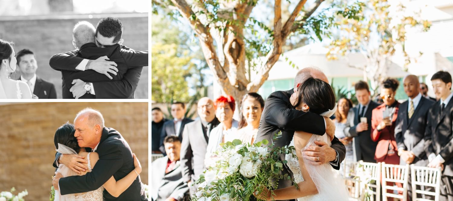 Dad gives daughter away to groom - https://brittneyhannonphotography.com