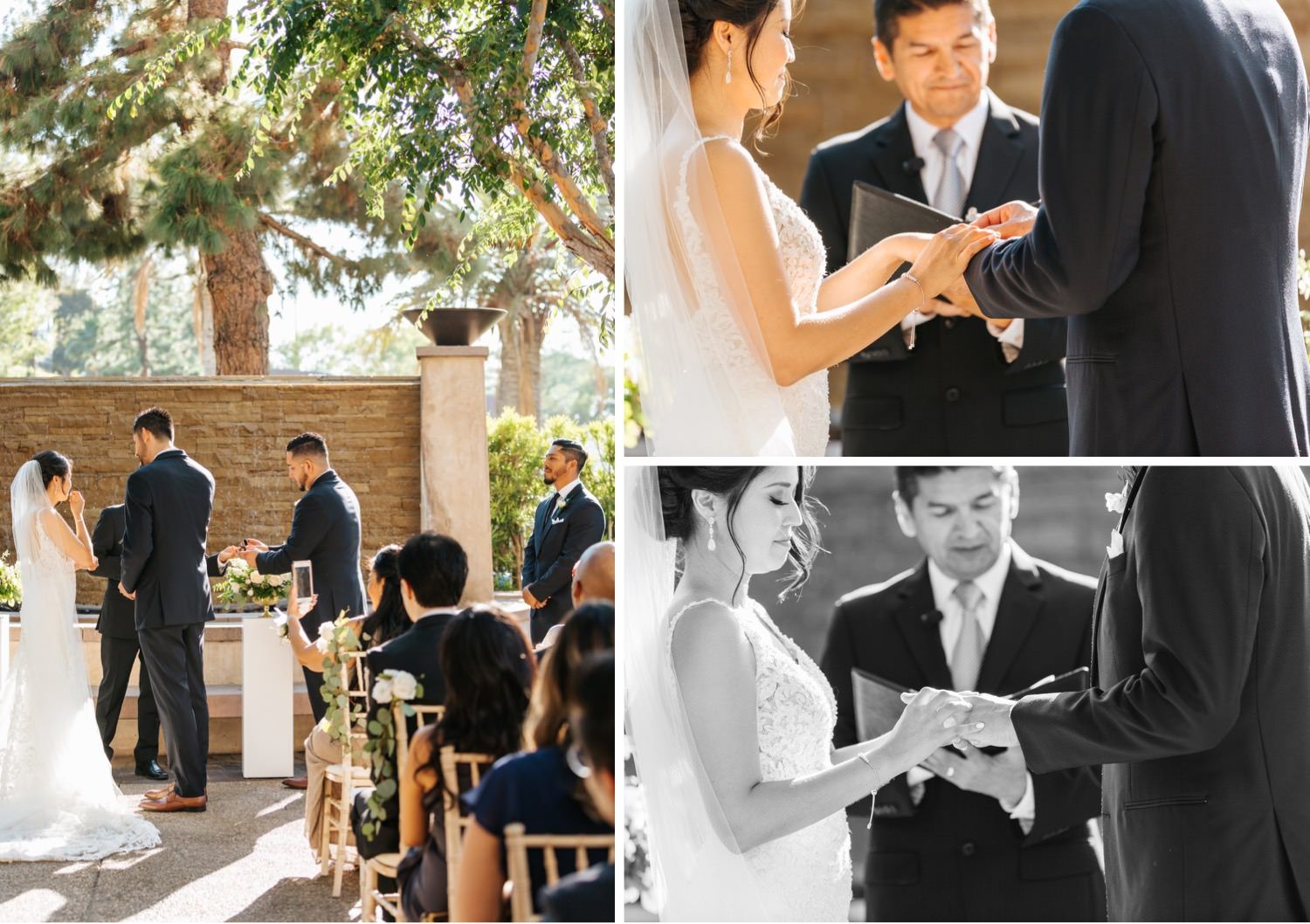 Bride and Groom exchange rings - https://brittneyhannonphotography.com