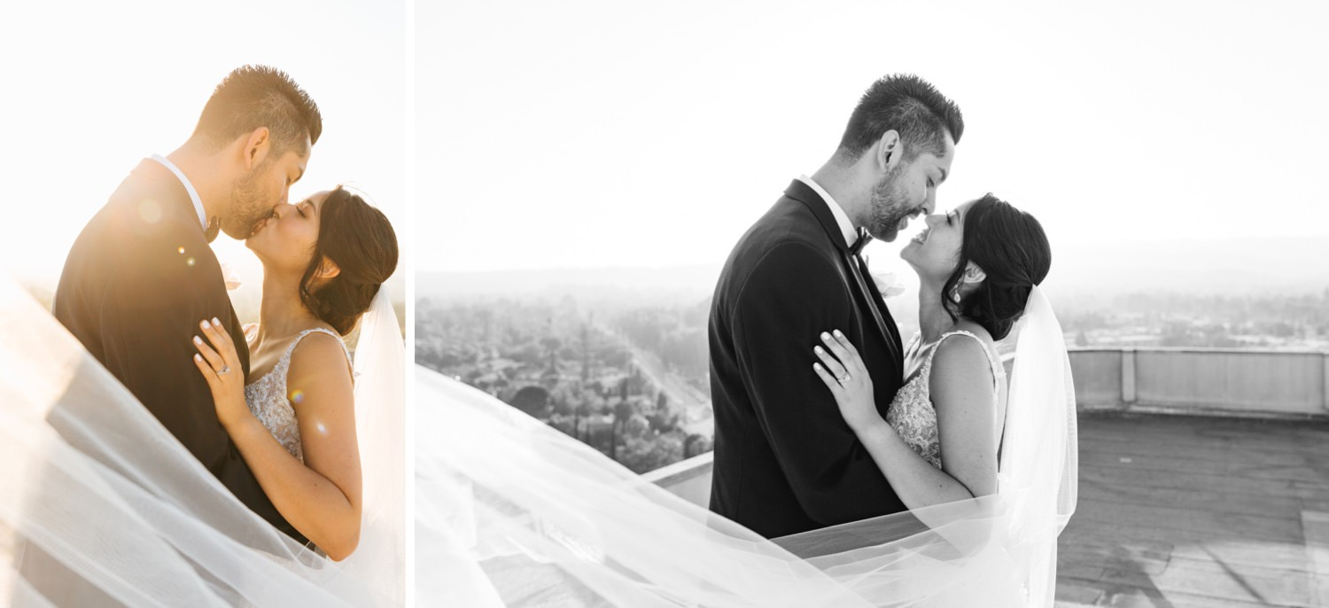 Sweet and romantic bride and groom pictures - Los Angeles Wedding Photographer - https://brittneyhannonphotography.com