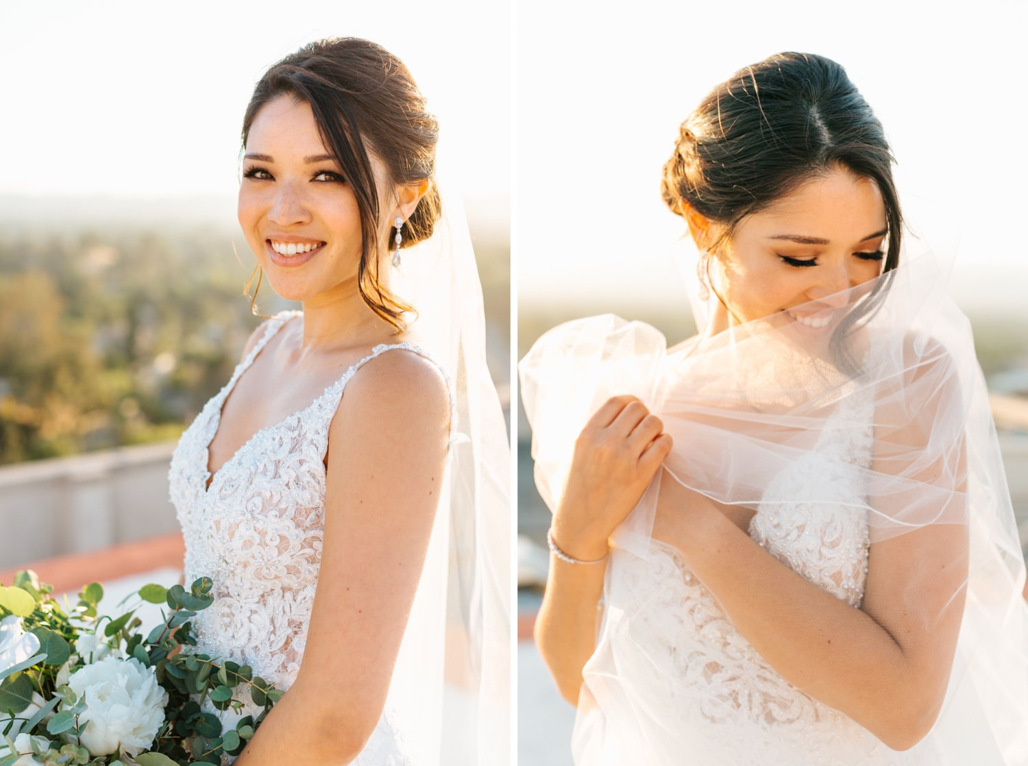 Blushing Bride - Los Angeles Wedding - https://brittneyhannonphotography.com