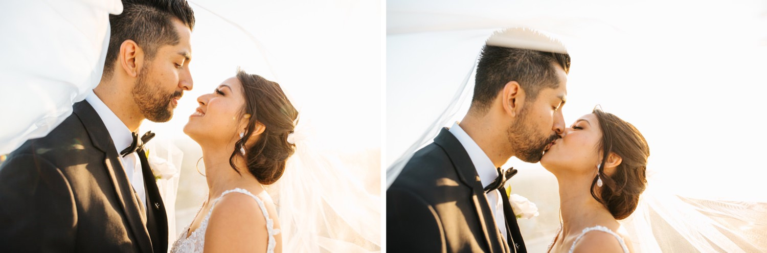 Bride and Groom veil photos - https://brittneyhannonphotography.com