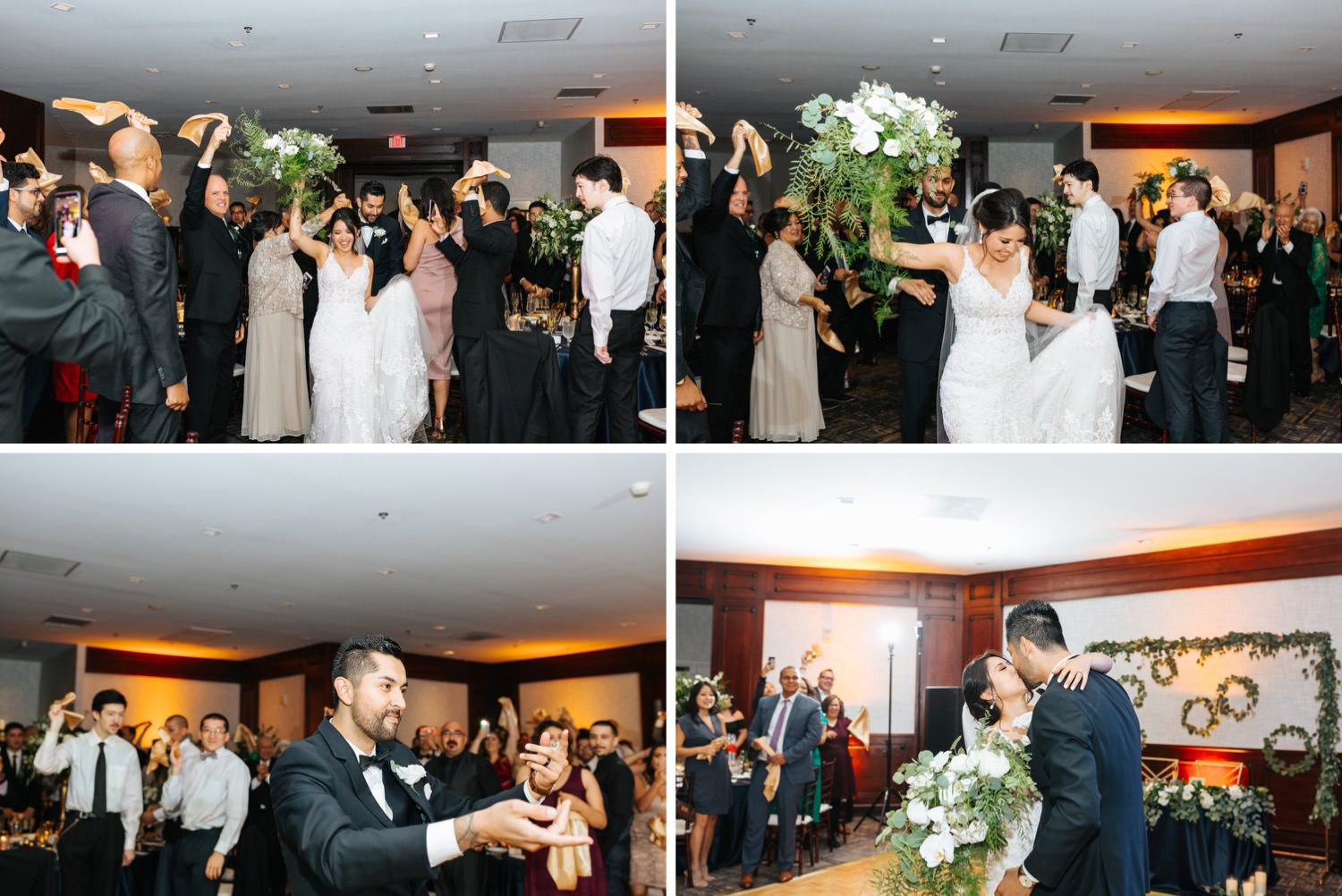 Bride and Groom Grand Entrance into Reception - https://brittneyhannonphotography.com
