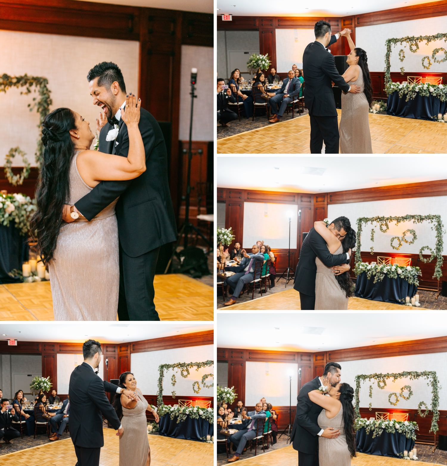 Mother and Son Dance - Groom dances with his Mom - https://brittneyhannonphotography.com