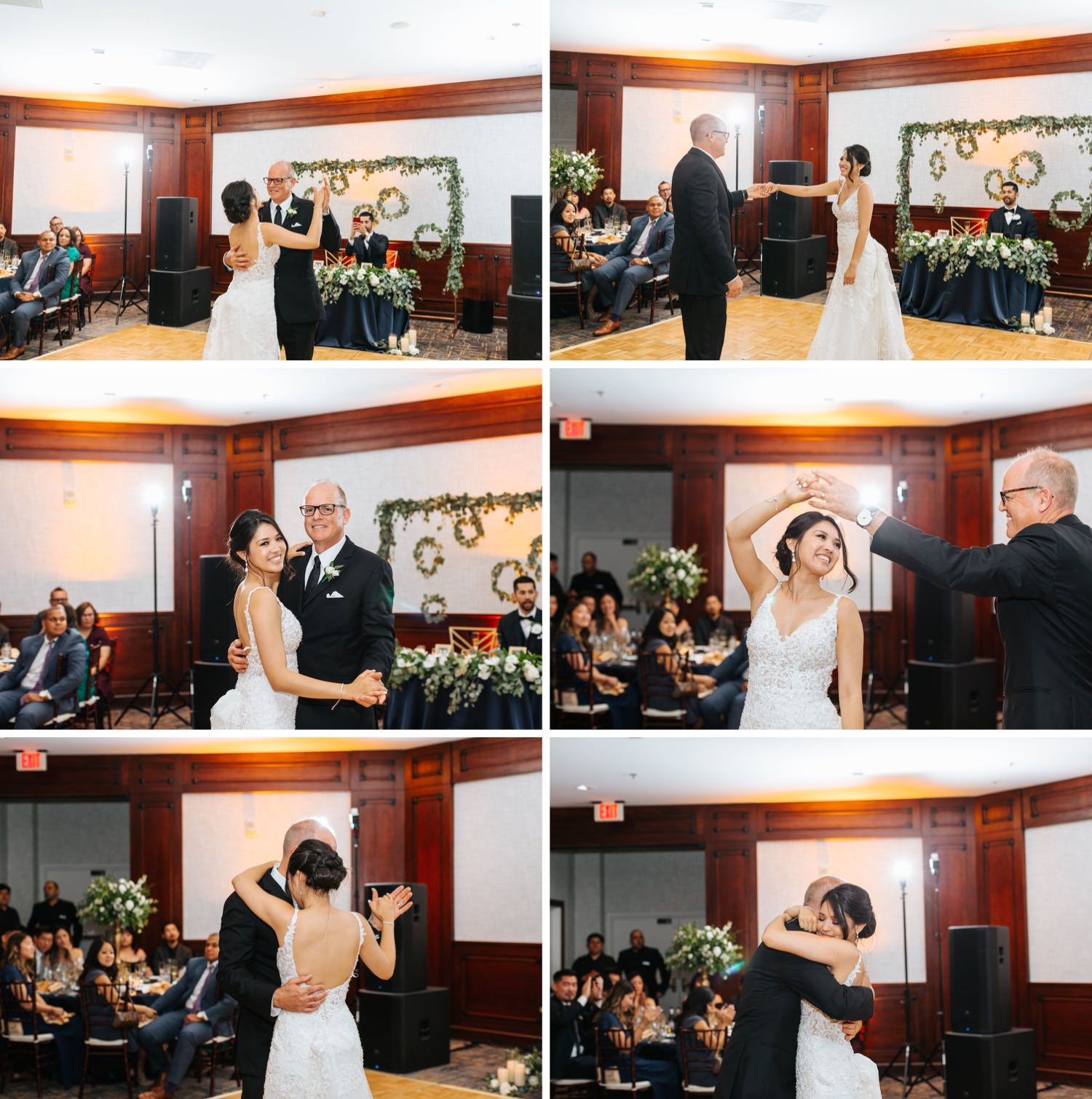 Father Daughter Dance - Bride dances with her dad - https://brittneyhannonphotography.com