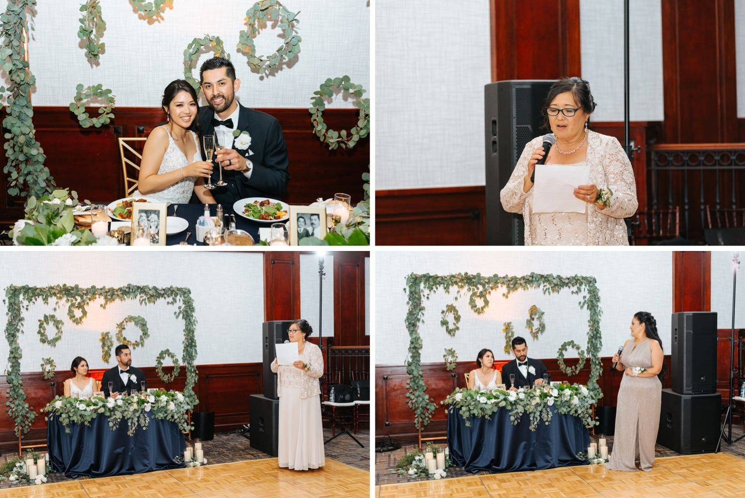 Wedding Speeches - Bride's Mom gives toast during reception - https://brittneyhannonphotography.com
