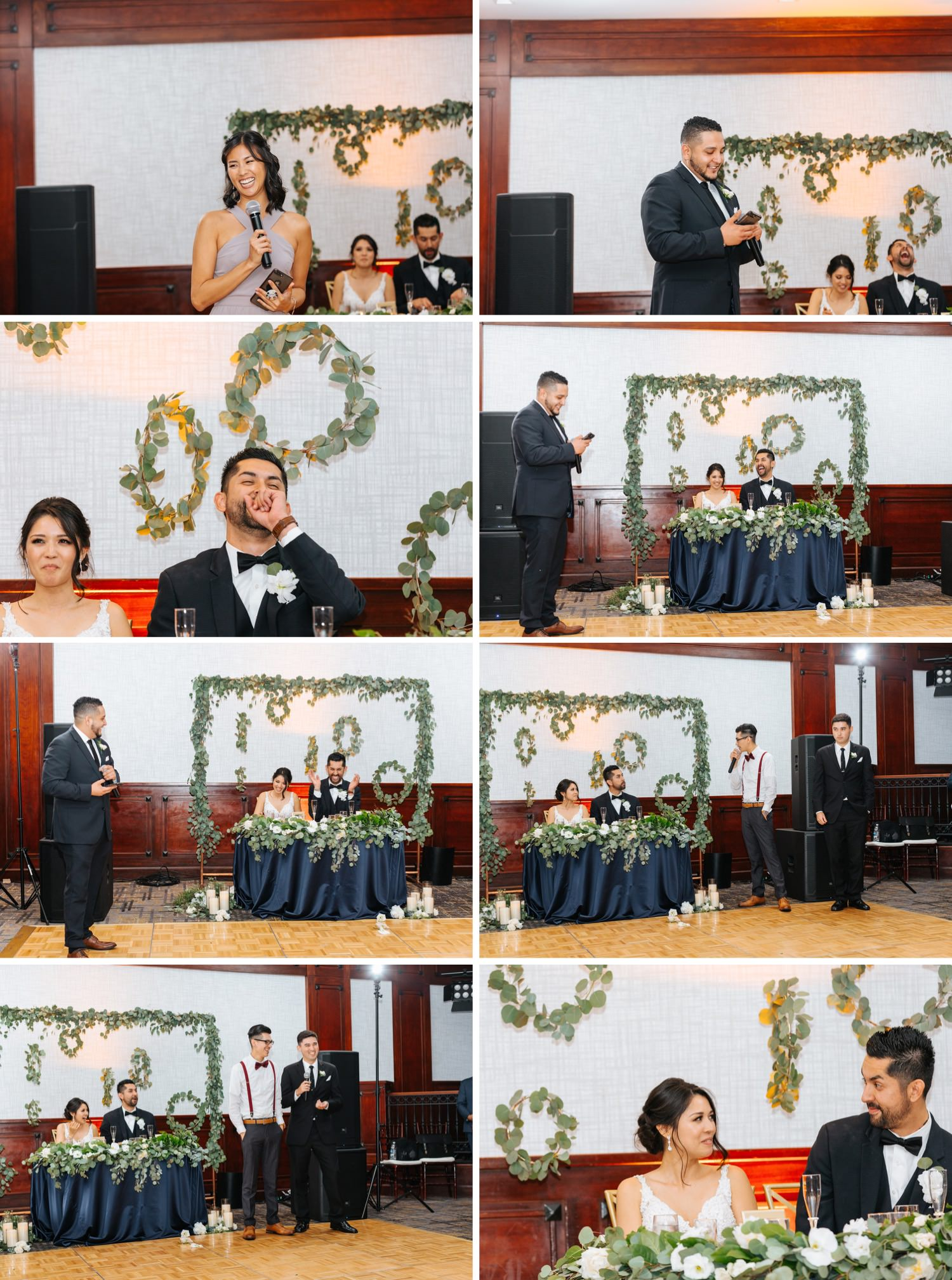 Wedding Party Toasts - LA Wedding Reception - https://brittneyhannonphotography.com