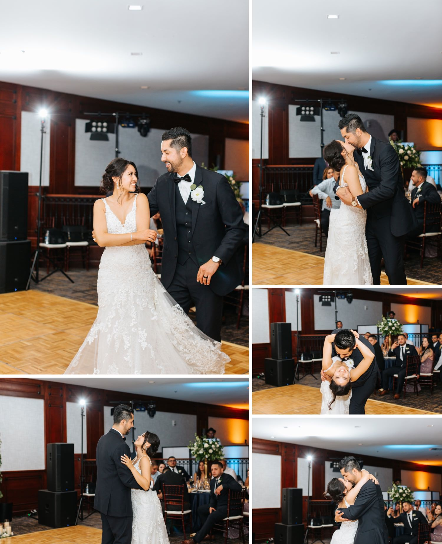 Bride and Groom First Dance - Romantic First Dance between Bride and Groom - https://brittneyhannonphotography.com