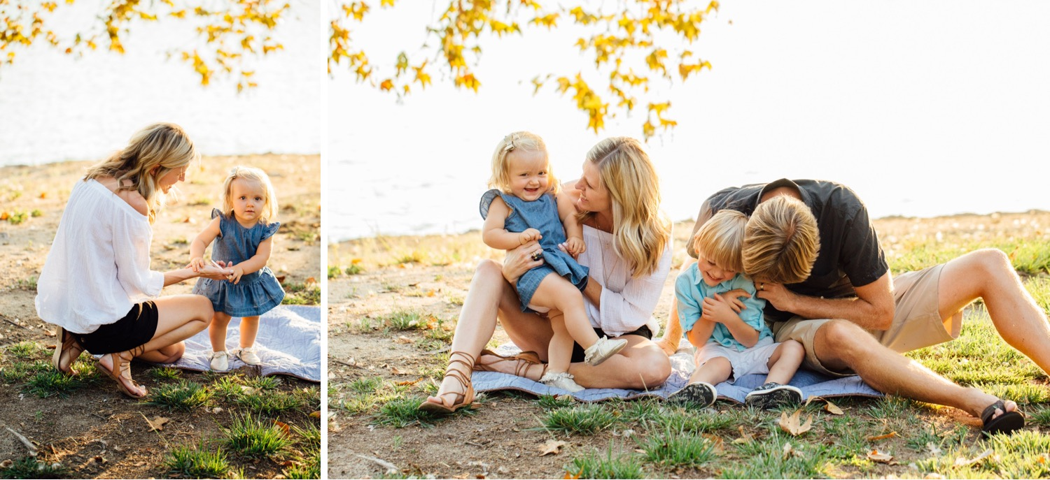 Warm and Golden Family Photos in Orange County, CA - https://brittneyhannonphotography.com