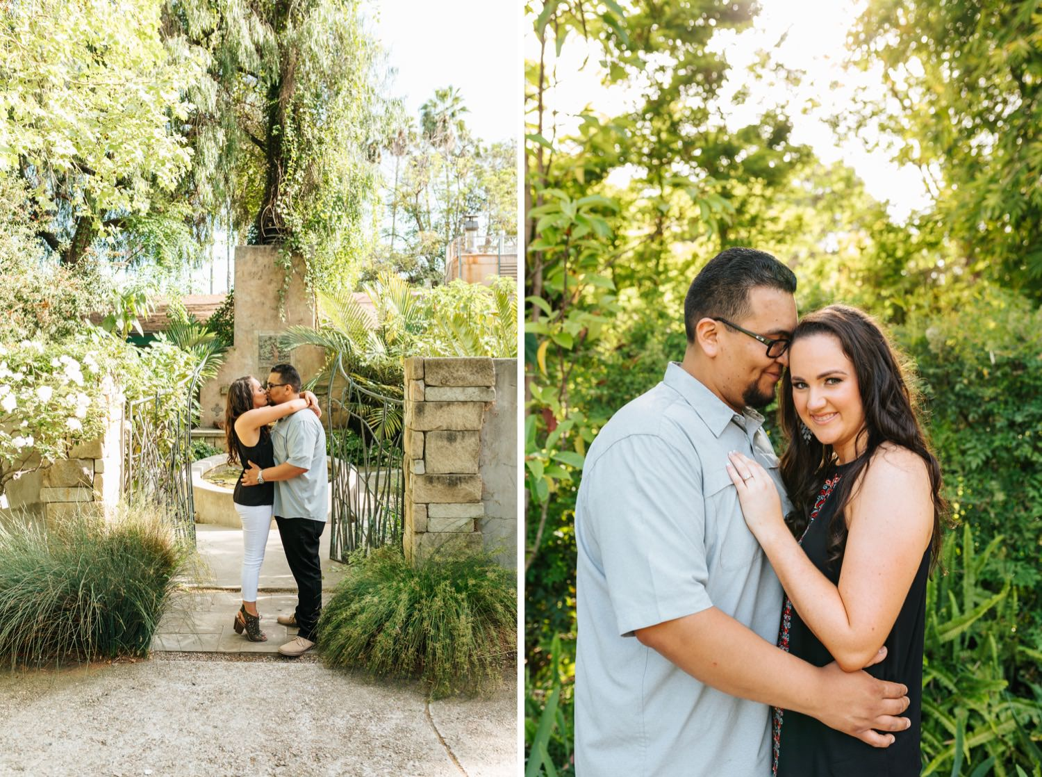 romantic-garden-engagement-photos