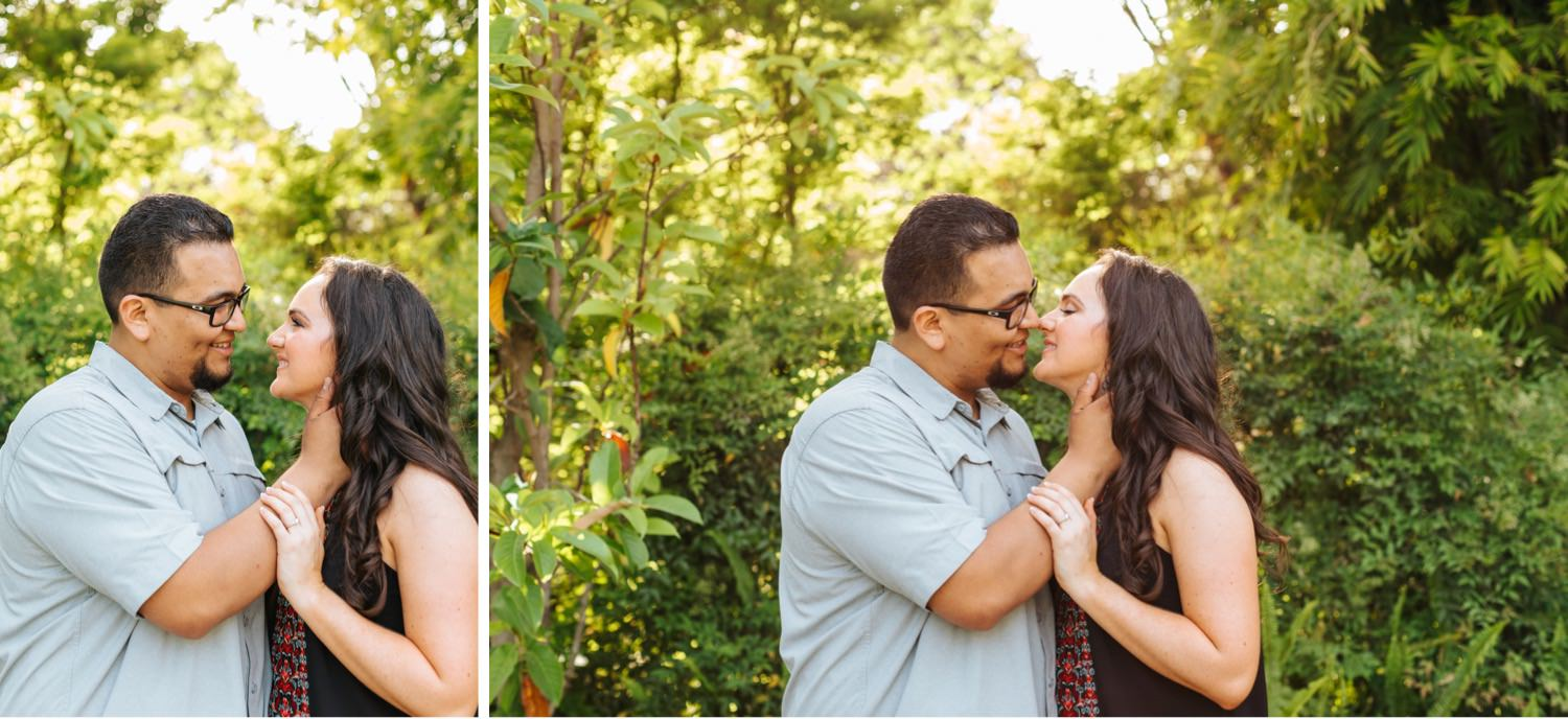 Romantic Garden Engagement Photos