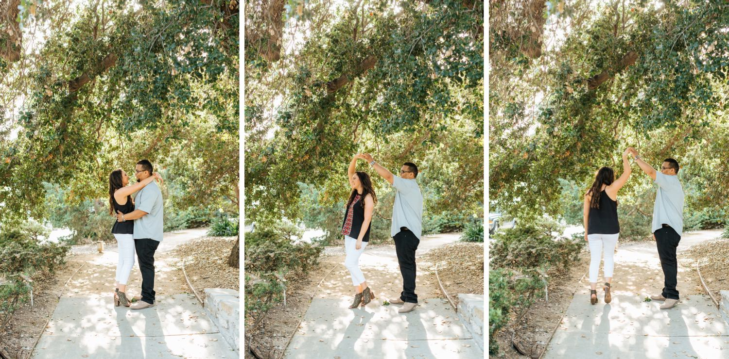Sweet and Romantic Garden Engagement Session in Southern California