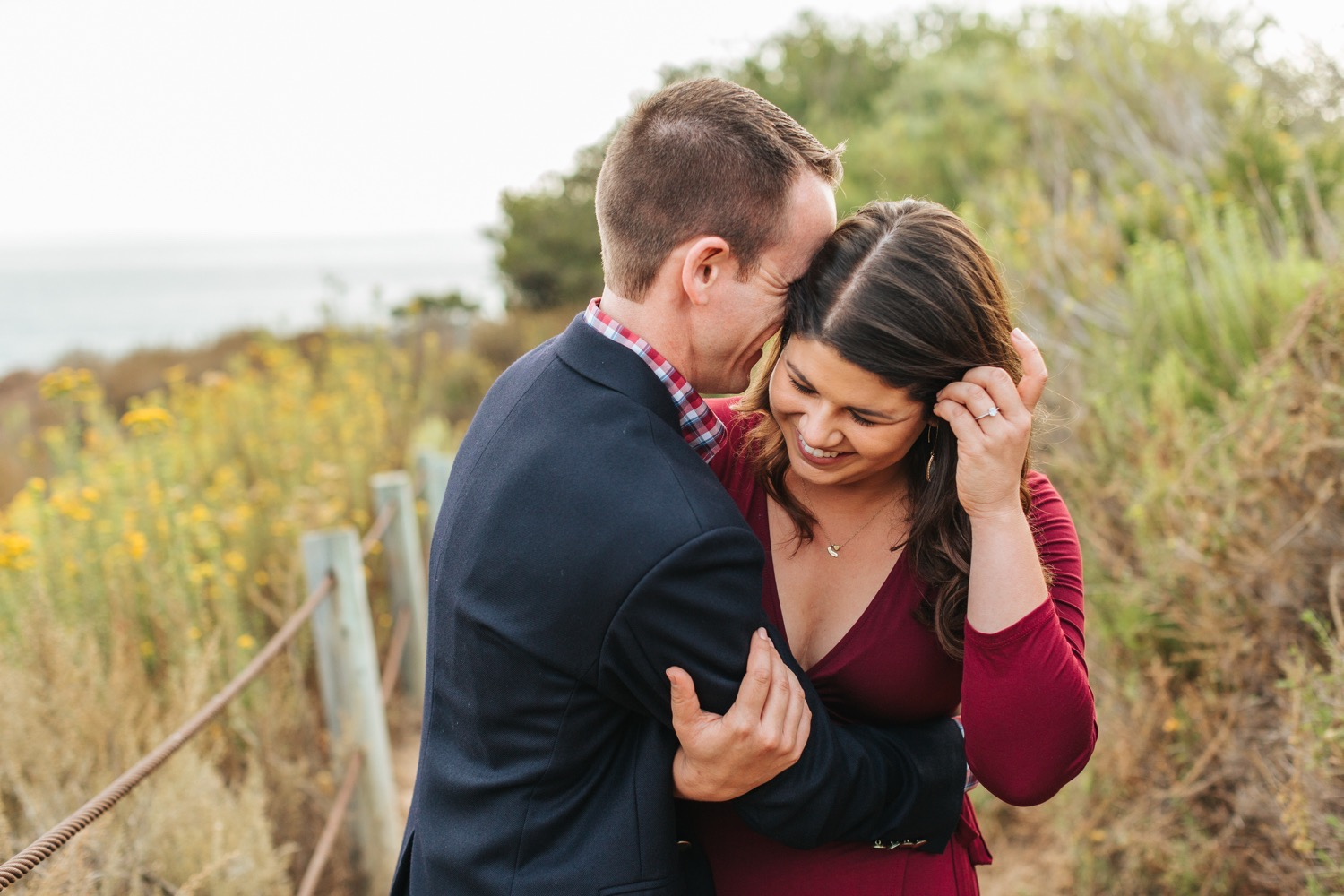 couple-laughing-during-engagement-session