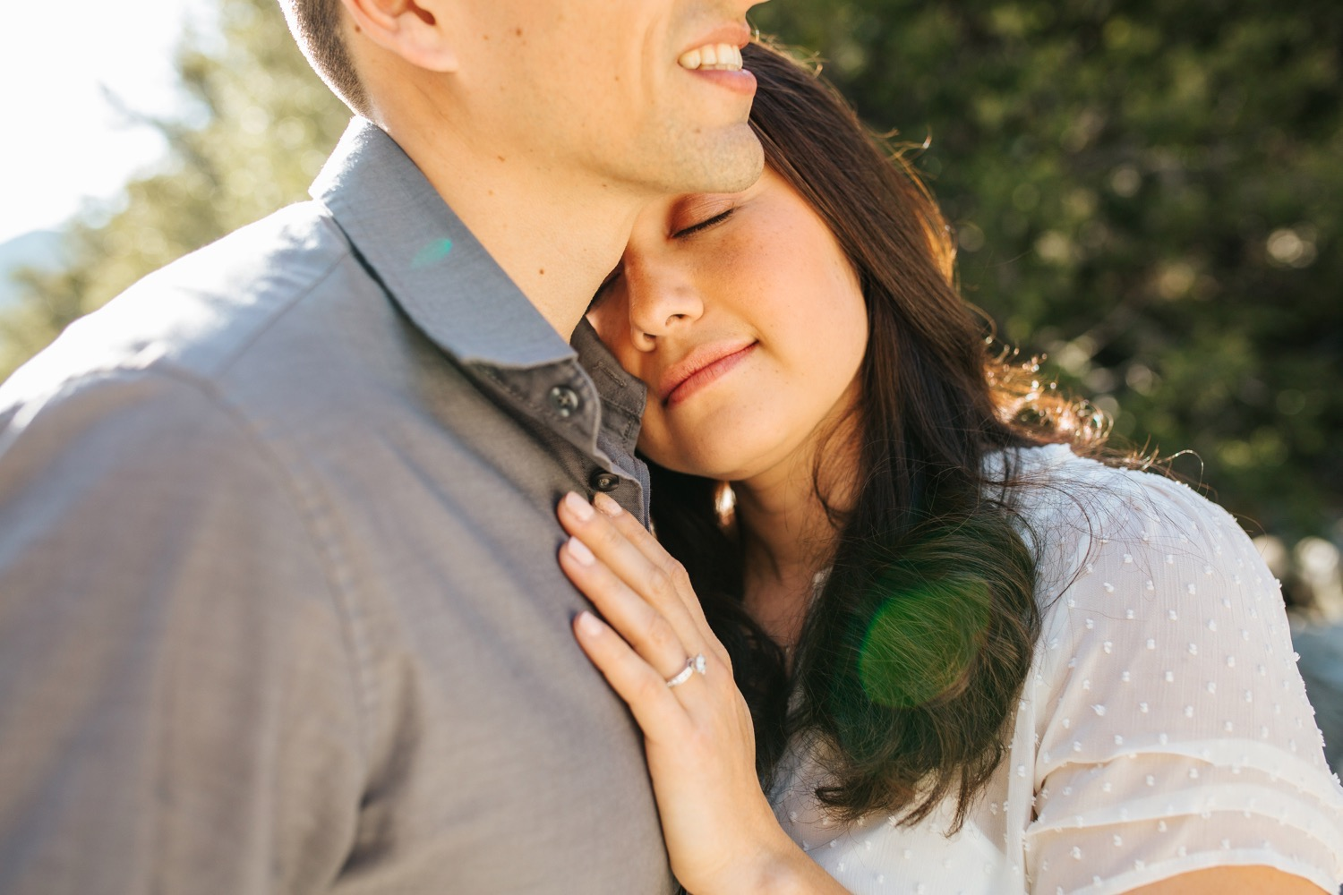Natural Light Engagement Session in the mountains - https://brittneyhannonphotography.com