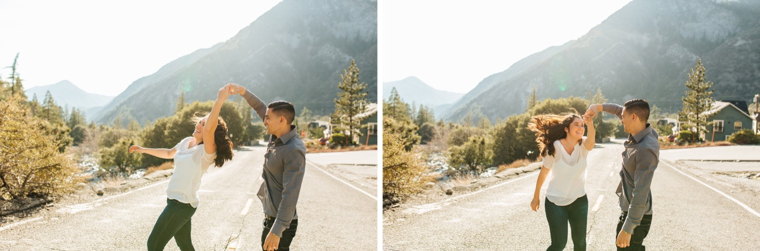 Dancing in the mountains - Mountain Engagement Session - https://brittneyhannonphotography.com