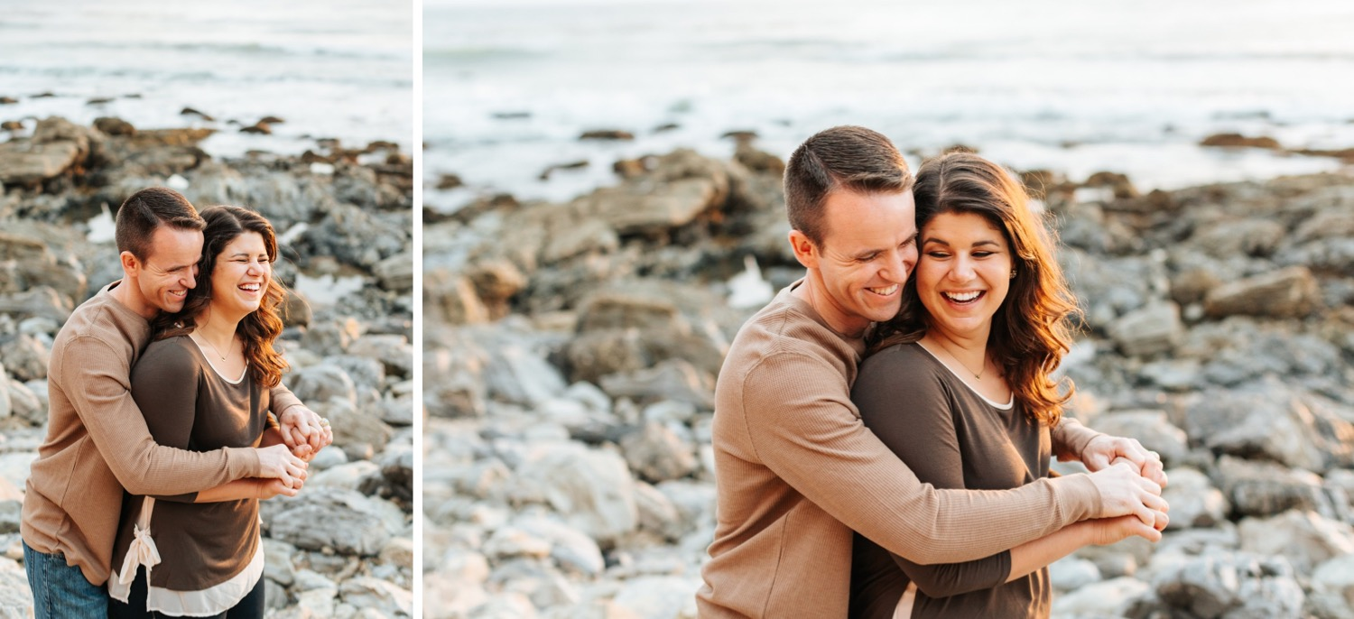 couple-laughing-during-engagement-photos
