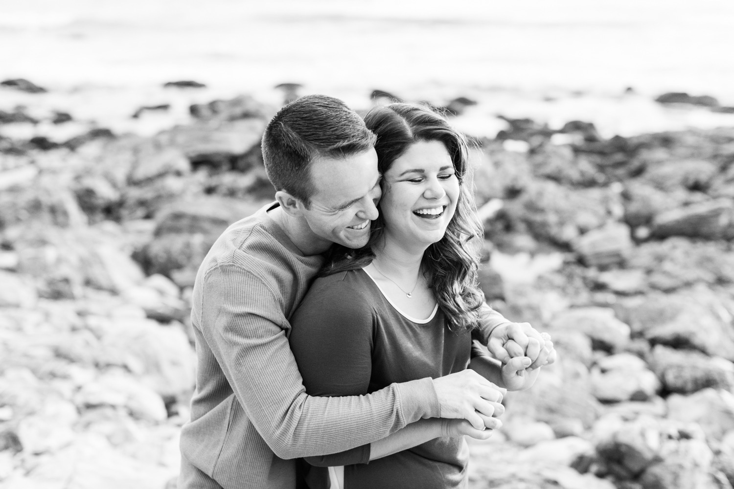 fun-engagement-photos-couple-laughing