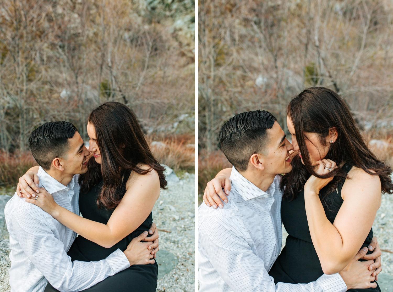 Romantic Mountain Engagement Session - https://brittneyhannonphotography.com
