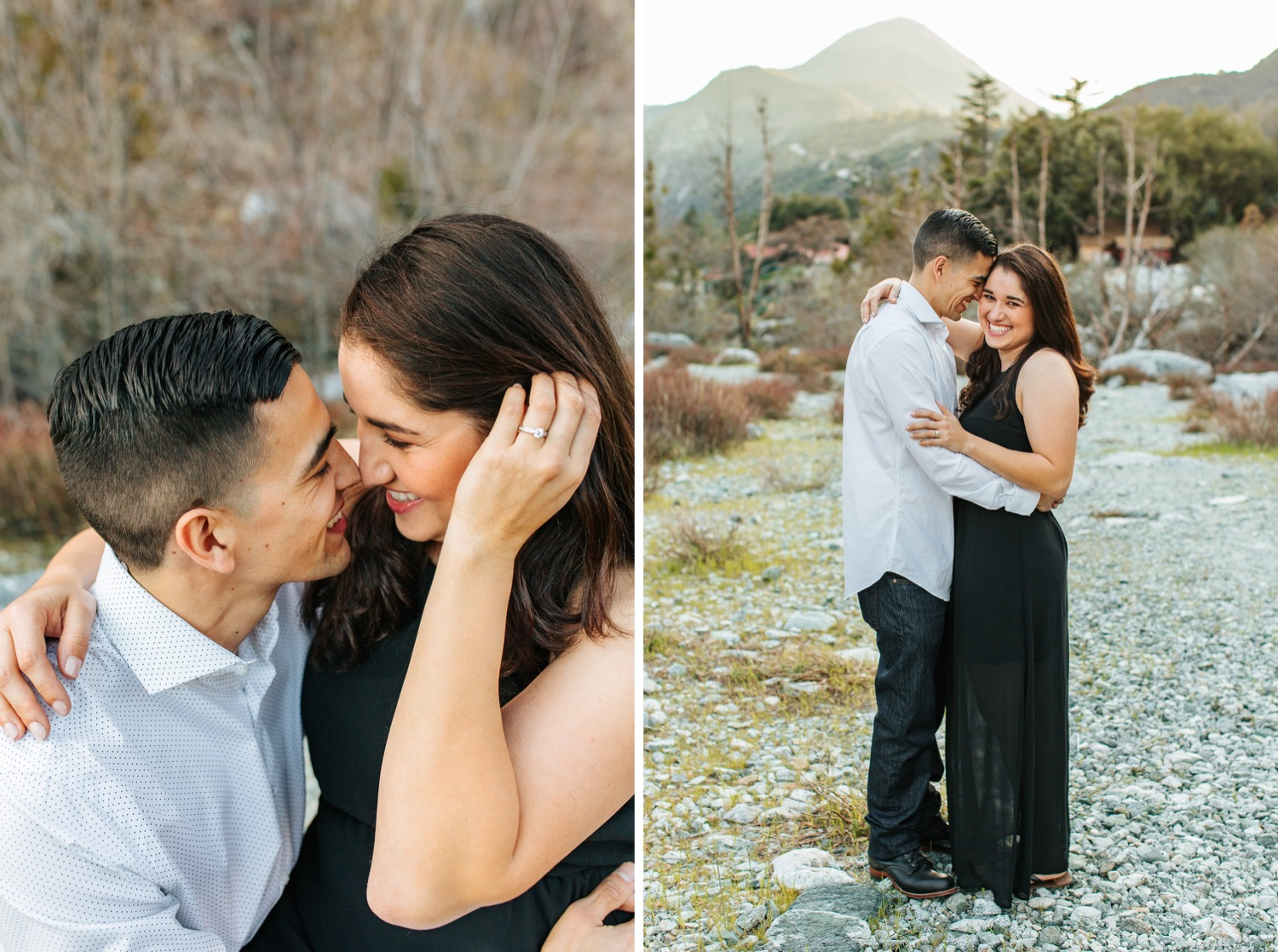 I love you - Mountain Engagement - https://brittneyhannonphotography.com