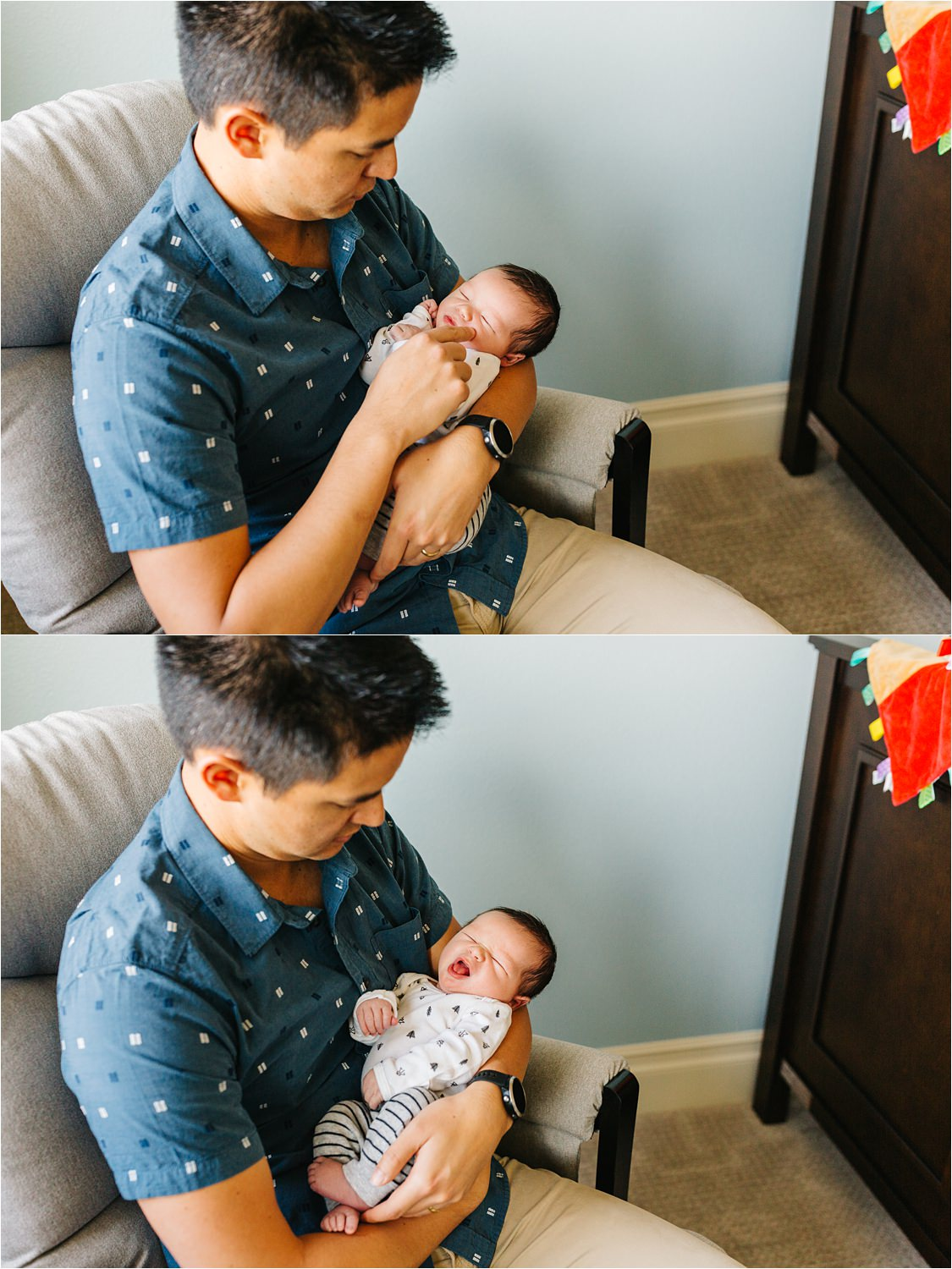 Daddy and Me - Lifestyle Newborn Photographer